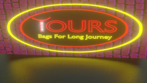 Neon Tour Bag Logo