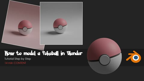 How to model a Pokeball in Blender