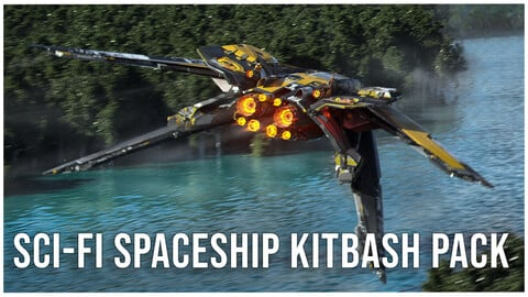 Sci-Fi Spaceship Kitbash Pack + IMM Brushes