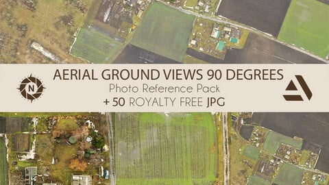 Photo Reference Pack: Aerial Views 90 Degrees