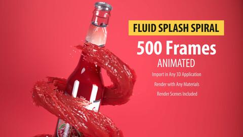 Animated Water plash spiral
