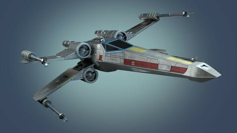 Star Wars X WING Fighter with Rigged
