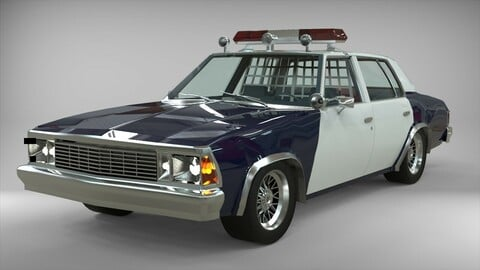 Chevrolet Malibu 1981 Police car lowpoly