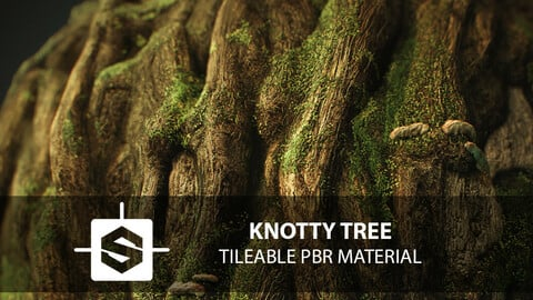 Knotty Tree Tileable PBR Material