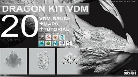 VDM - Easy Dragon Reptile Texture KIT + Full Maps