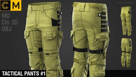 Tactical pants #1 / Marvelous Designer / Clo3d project + obj