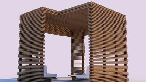 Modern Wooden Pergola