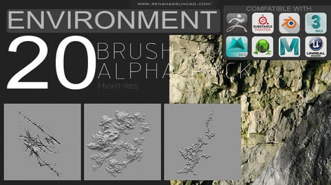 20 Environment Brush Pack+Maps