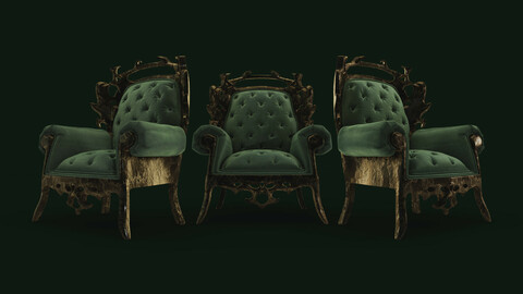 Rusted Velvet Chair