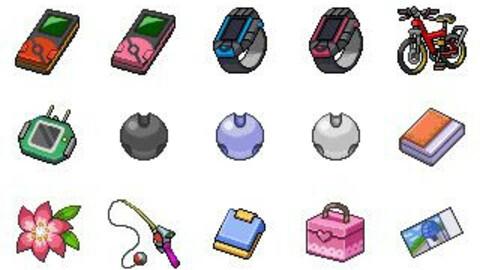 Pokemon items for rpg maker mv mz icon reworked