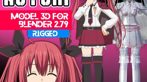 Itsuka Kotori - Date a Live  Anime Model 3D