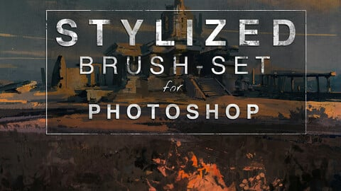 STYLIZED BRUSH-SET - Custom brushes for Photoshop