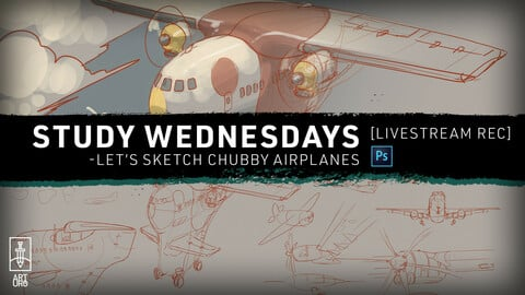 MAR-03 LiveStream: Let´s Study Chubby Airplanes - with art.uro