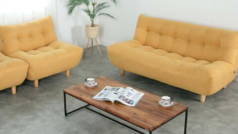 Fog fabric single seat sofa