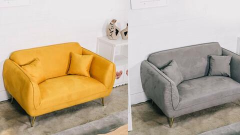 Reno 2-seater aquatex design sofa 3colors