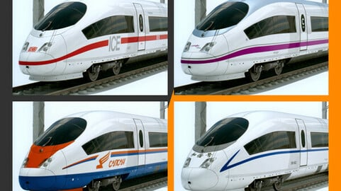 High Speed Trains AVE ICE 3 Sapsan CRH3 CRH3C Siemens Velaro