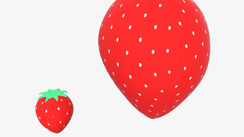 Cute 3D Plush Strawberry PBR for Blender Cinema4D and Other