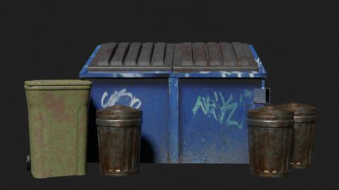 trash can & dumpster