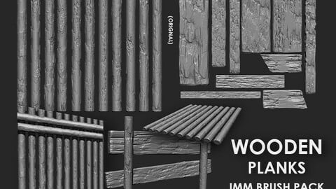 wooden plank imm brush pack 21 in one