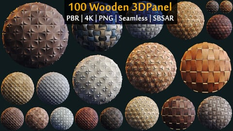100 3D Panel PBR Material