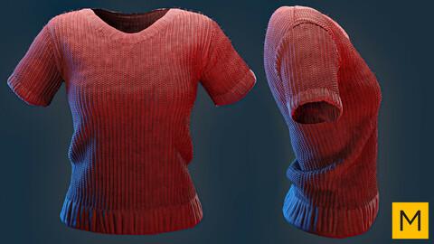 Marvelous designer project FBX & OBJ & Textures: Female t-shirt