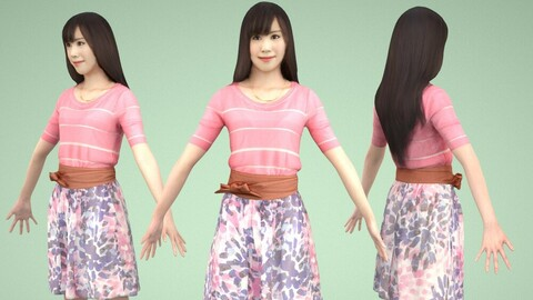 Animated 3D-people 078_Yui