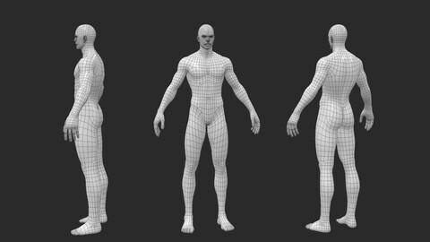 BaseMesh - Male Body Lowpoly