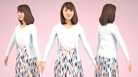 Animated 3D-people 020_Kana