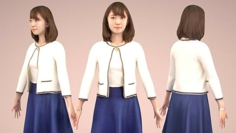 Animated 3D-people 016_Kana