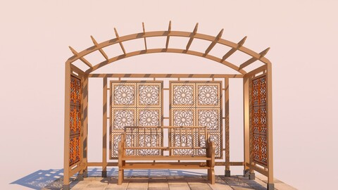 Modern Wooden Pergola - 03