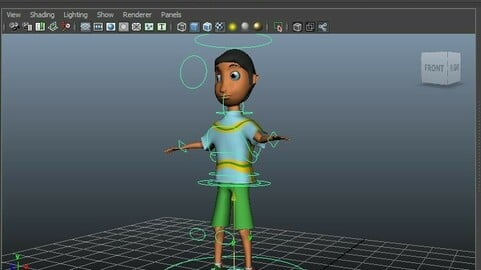 Character Rigging boy for 3D Animation