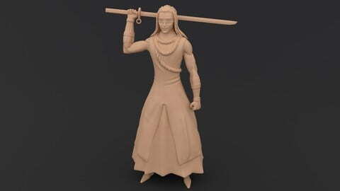 Kaname Tosen - Bleach  3D Print Model
