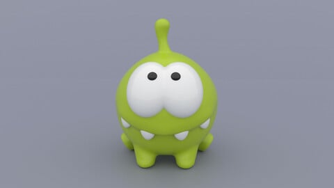 Om Nom from the Cut the Rope series - 3D Print Model