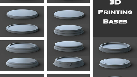 24 FREE 3D Printing Bases