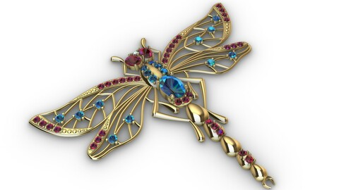 Brooche dragonfly
