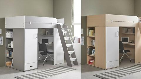 House Bunker Reading Room Desk Bed 2colors