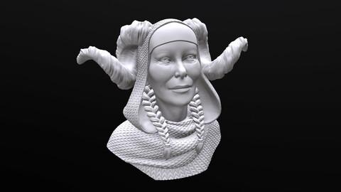 Old Tiefling / Faun / Satyr 3d  printable Bust