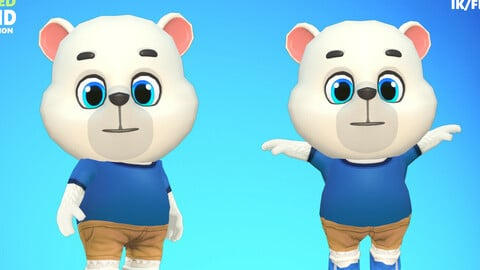 Polar Bear Animated Rigged