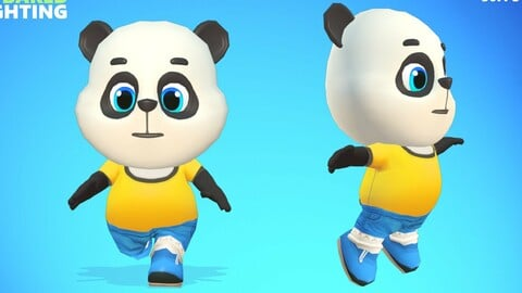 Panda Bear Animated Rigged