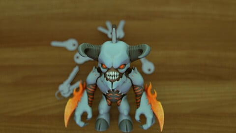 Doom Baron Of Hell Keychain