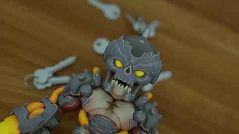 Doom Dreadknight Keychain