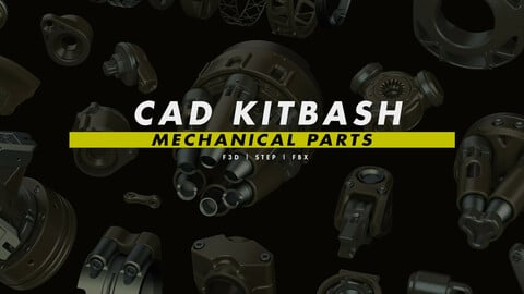 CAD Kitbash: Mechanical Parts