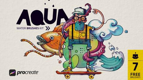Aqua Brush Pack for Procreate