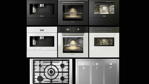 3dasset miele kitchen appliances