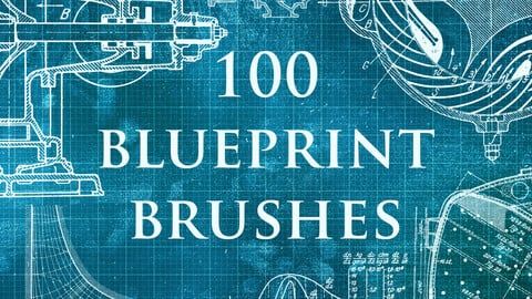 100 Blueprint Mechanics Brushes