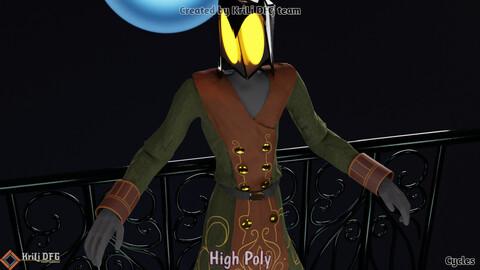 3D Sculpture Character Model ( Lantern-Man )