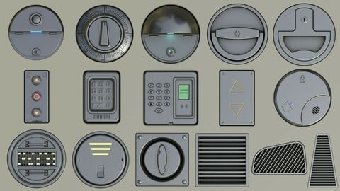 2 Decal Packs for Sci-Fi and other invironments
