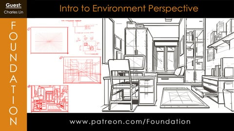 Foundation Art Group - Intro to Environment Perspective with Charles Lin