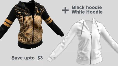 Black & White Ladies hoodie
