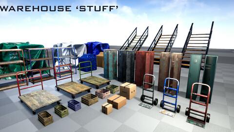 Warehouse 'Stuff' - Props Pack + UE4 Shaders